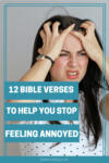 annoyed woman with hands in her hair | 12 Bible verses to help you stop feeling annoyed