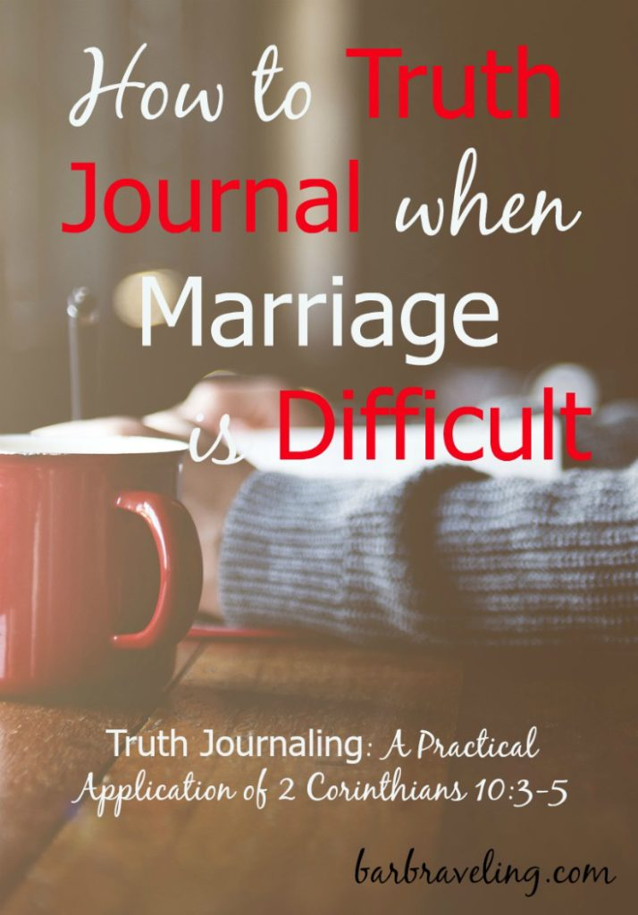 Do you ever feel like your husband doesn't love you? Or that you don't love him? Truth journaling is a way to bring your thoughts captive to the truth and go to God for help with your marriage.