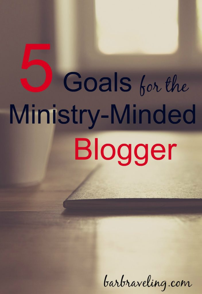 Do you ever get discouraged with your blogging ministry? Sometimes it helps to change our goals.