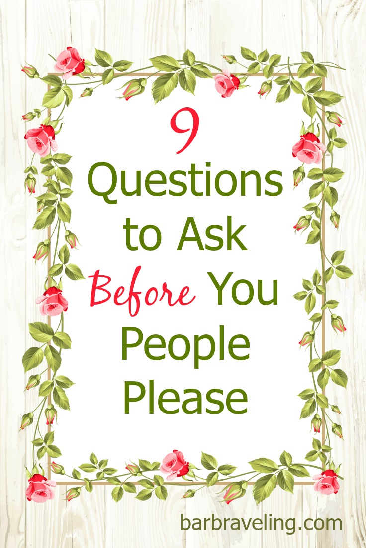 Are you ever tempted to say yes when you really want to say no? Next time try using these questions to talk to God about the situation before you give in to people pleasing.