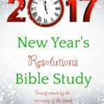 Need some help with your goals? Here's a New Year's Resolution Bible Study that will help!