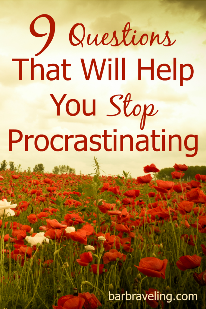 Sometimes you know that you should be working. But it's just so easy to procrastinate! Here are 9 questions that will help you stop procrastinating!