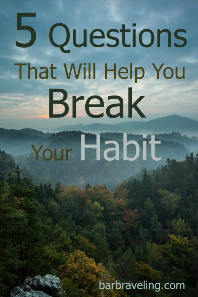 Do you ever feel like you want to break your habit, but you're not sure how? These 5 questions will help you talk the situations over with God and renew your mind so you can break free from your habit.