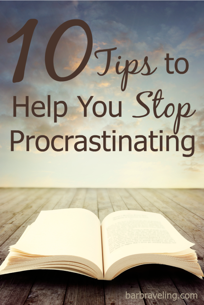 Do you ever find yourself putting off a dreaded task for weeks or even months or years? These 10 tips will help you stop procrastinating and get that job done!