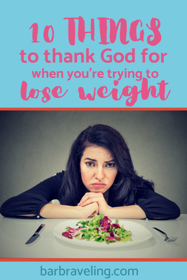 title image: 10 things to thank God for when you're trying to lose weight