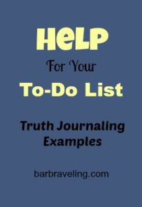 Help for Your To-Do List Truth Journaling Examples
