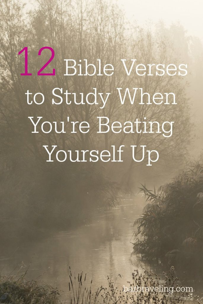 Do you beat yourself up? Do you struggle with self-condemnation? Here's 12 Bible Verses to study when you're beating yourself up.