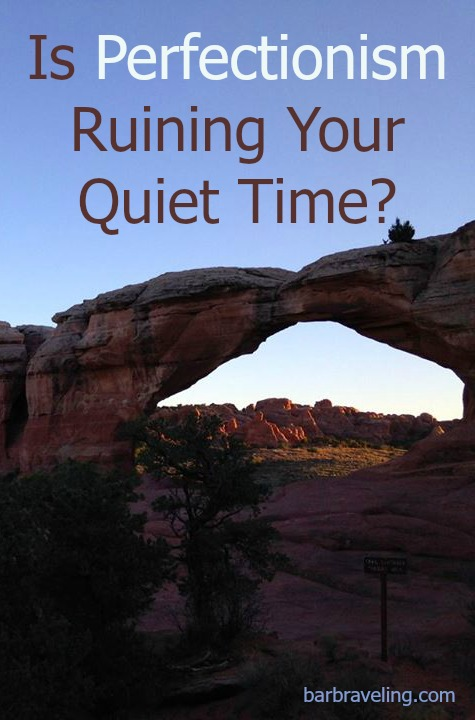Is perfectionism ruining your quiet times with God? Here are 5 lies that can harm your quiet times if you're a perfectionist & 5 truths that will help.