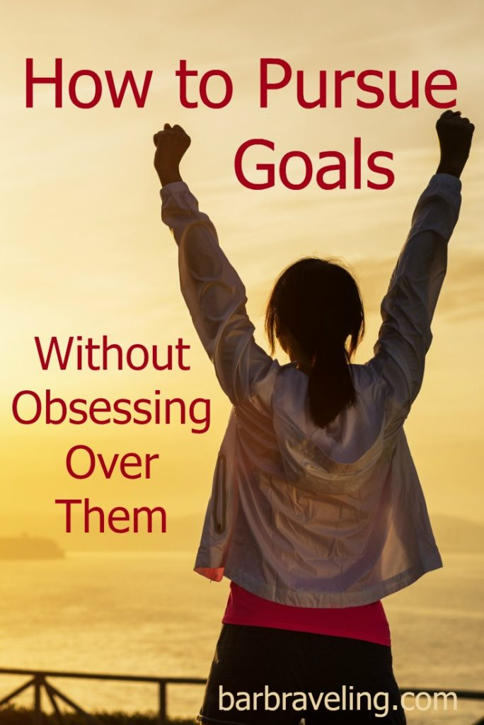 Do you ever find yourself obsessing over your goals? This blog post will help you pursue your goals without obsessing over them!