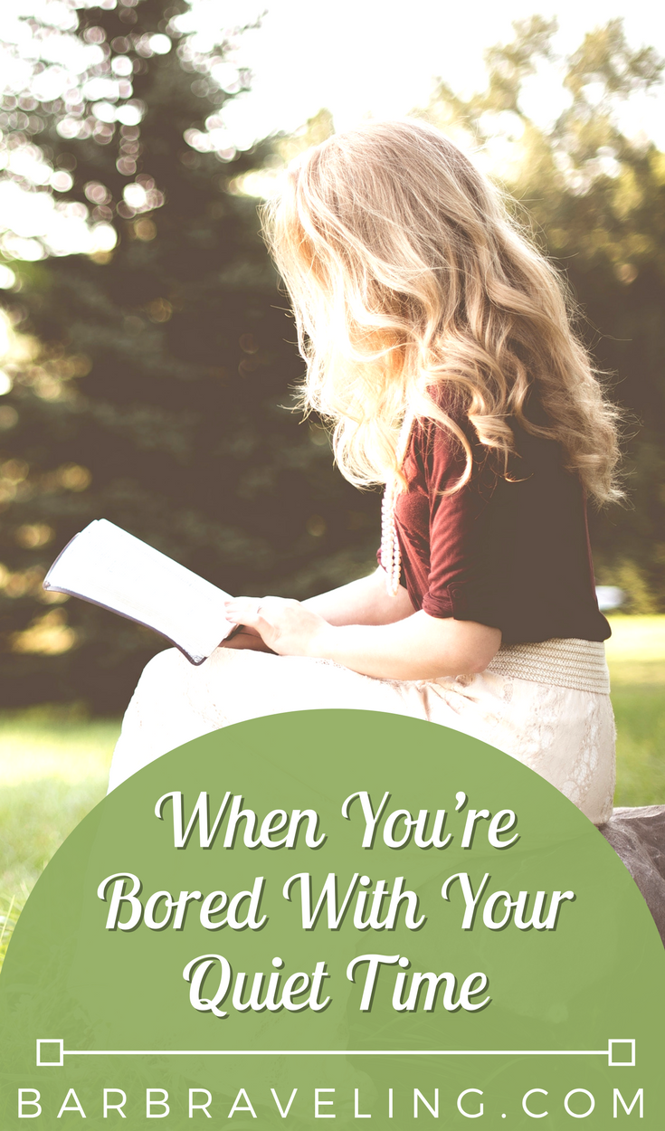 Do you ever find yourself bored with your quiet time? In this blog post and Christian Habits Podcast episode, we'll discuss some things you can do to enjoy and look forward to your quiet times!