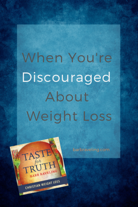 Do you ever get discouraged about weight loss? On this episode of the Taste for Truth Podcast, we'll talk about what to do when discouragement hits.