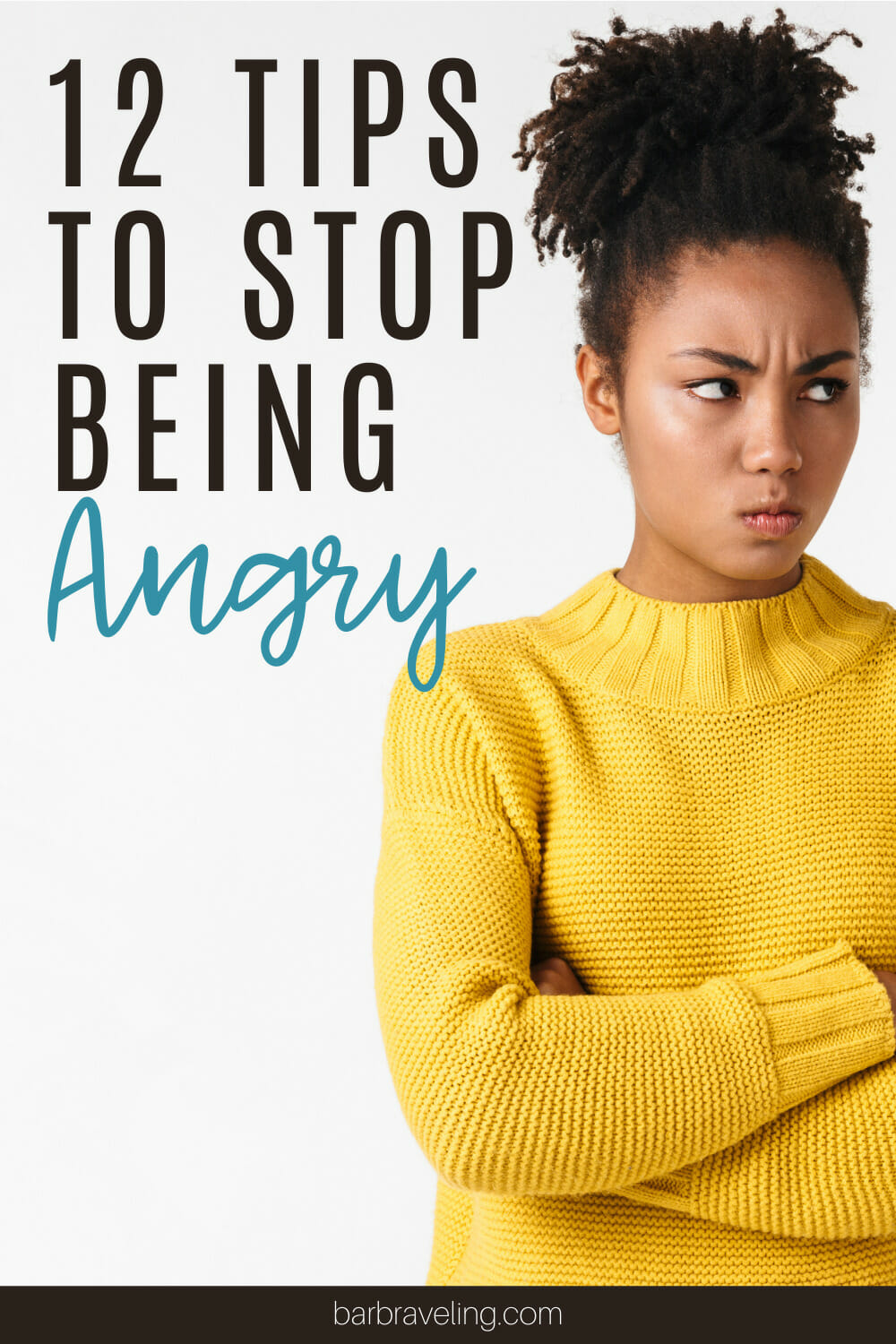 woman in yellow sweater with angry face   how to stop being angry