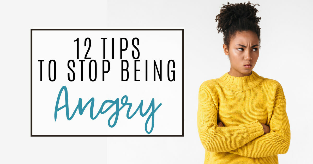 12 tips to stop being angry   angry woman in yellow sweater
